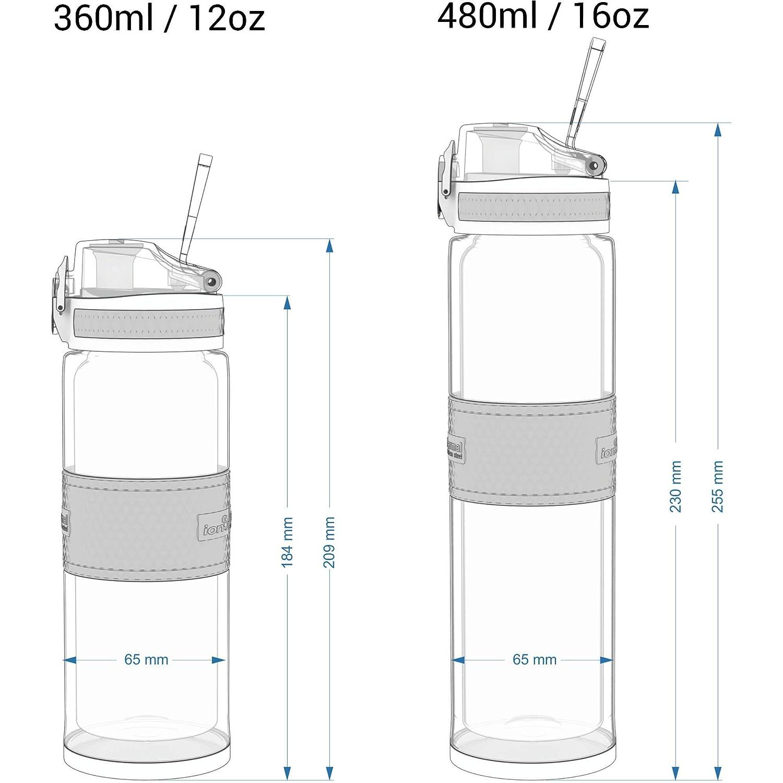 Ion8 Botella de Agua Estanca de Acero Inoxidable ThermoShield 360ml 12oz
