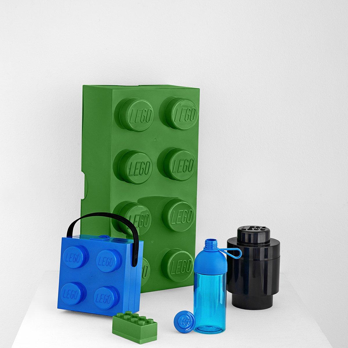 Gourde LEGO Remplir de gla/çons rouge gourde transparente 740 ml