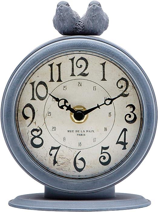 NIKKY HOME - Reloj de Mesa metálico en Estilo Vintage, Movimiento ...