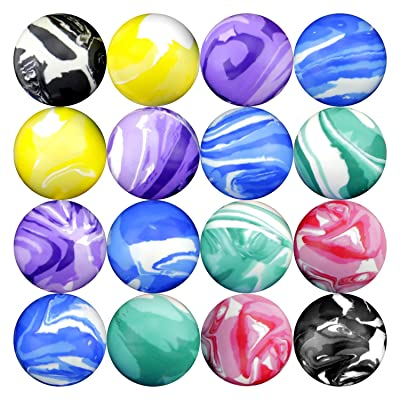 Entervending High Bouncing Balls Assorted Rubber Balls Party Bag Filler for Kids 25 pcs 45 mm: Toys & Games