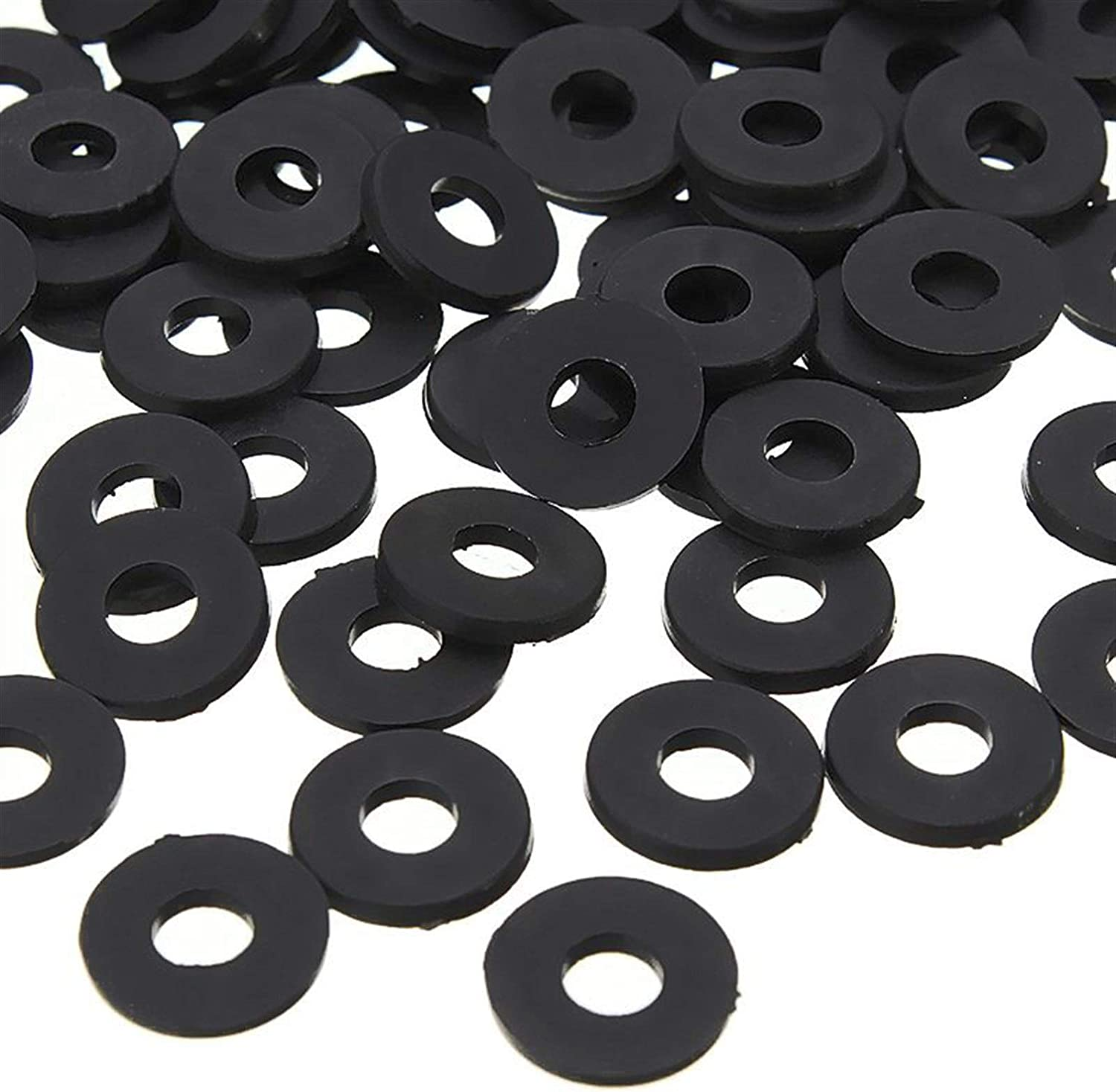 Repair Parts M2 x 5mm x 1mm Nylon Flat Insulating Washers Gaskets Spacers Black 200PCS Gaskets
