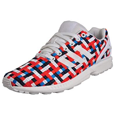 Mens shoes adidas originals zx flux logos iconic multi