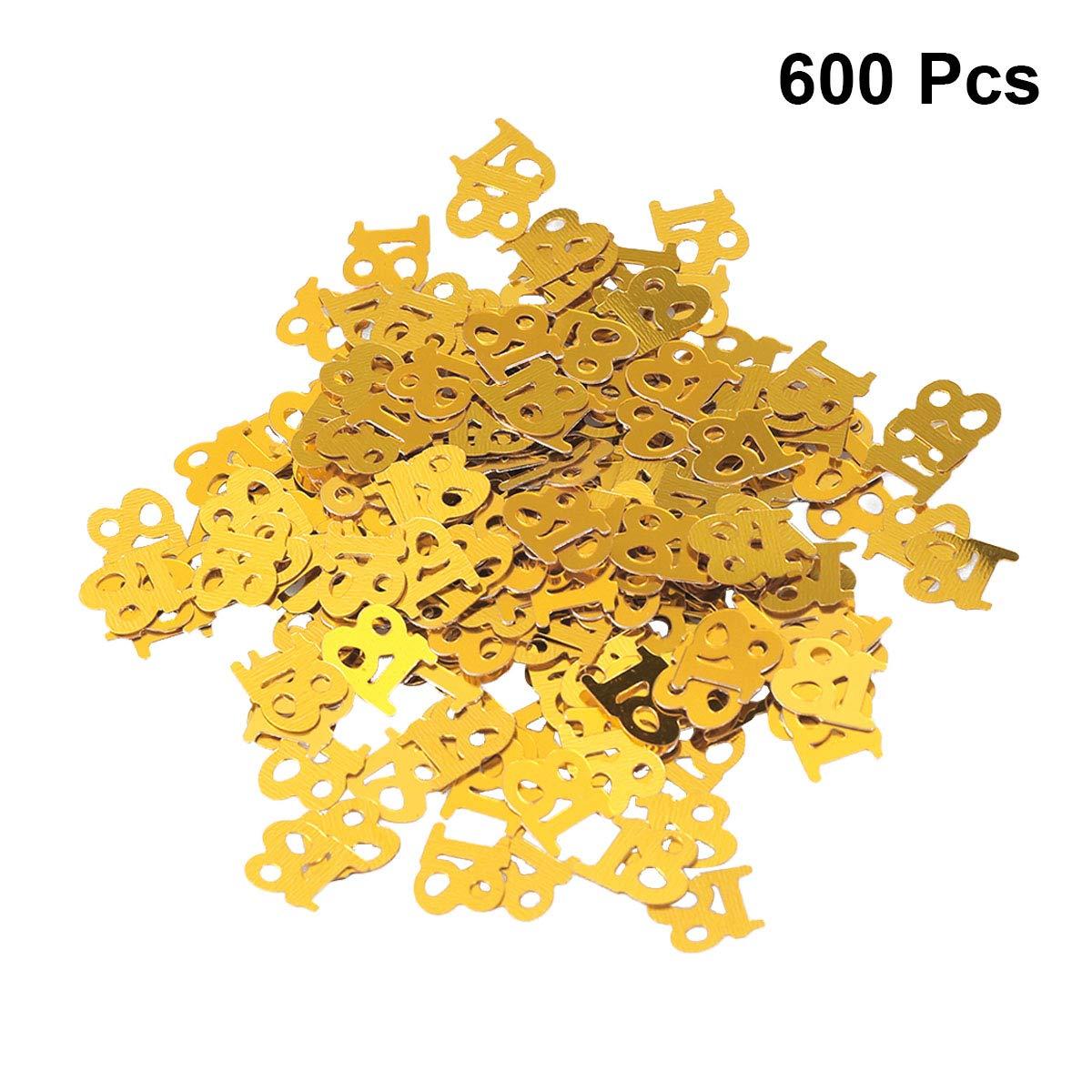 SUPVOX 600PC Confeti de cumpleaños Feliz cumpleaños Glitter ...
