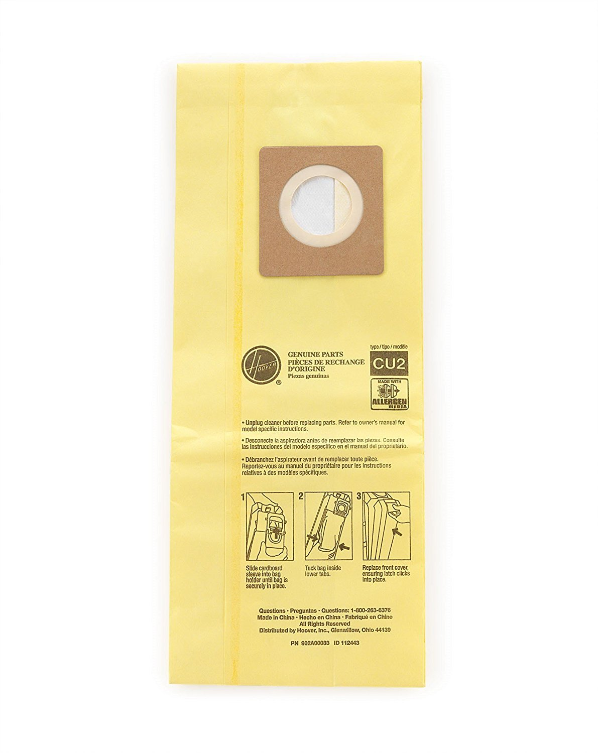 Hoover Commercial AH10243 Upright Bags for HushTone, Allergen Filtration (4 X Pack of 10)