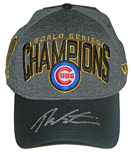 new arrival 820d1 364aa ... czech theo epstein signed chicago cubs 2016 world series champions new  era locker room hat certified ...