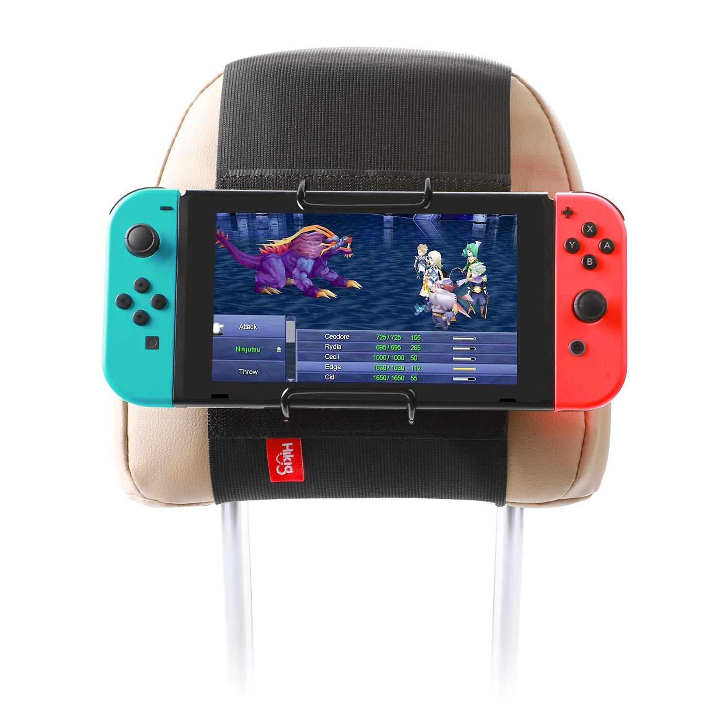 Hikig Car Headrest Mount Holder for Nintendo Switch Game Machine, Smart Phone and Other Tablets / Also fit for Planes Tray Table by Hikig