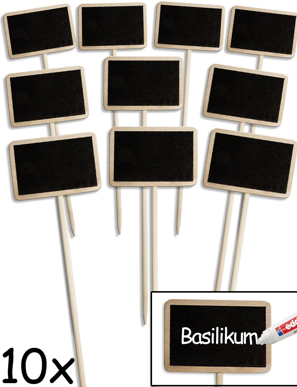 HomeTools.eu - 10x Klassische Holz Pflanz-Schilder | Beet Balkon ...