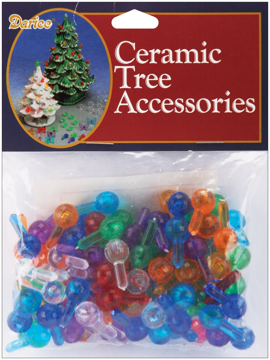 amazoncom ceramic christmas tree bulbs 5 100pkg medium globe multi home kitchen - Christmas Tree Accessories