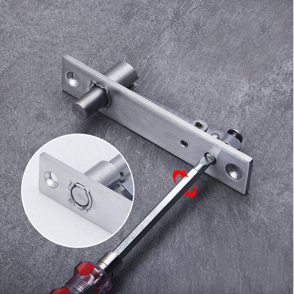 Door Pivot Hinge 130 x 25 mm Tiberham 2Pcs 360 Degree Rotation Hidden Door Shaft Pivot Hinges Heavy Duty Stainless Steel Concealed Rotating Door Hinge with Fixing Screws