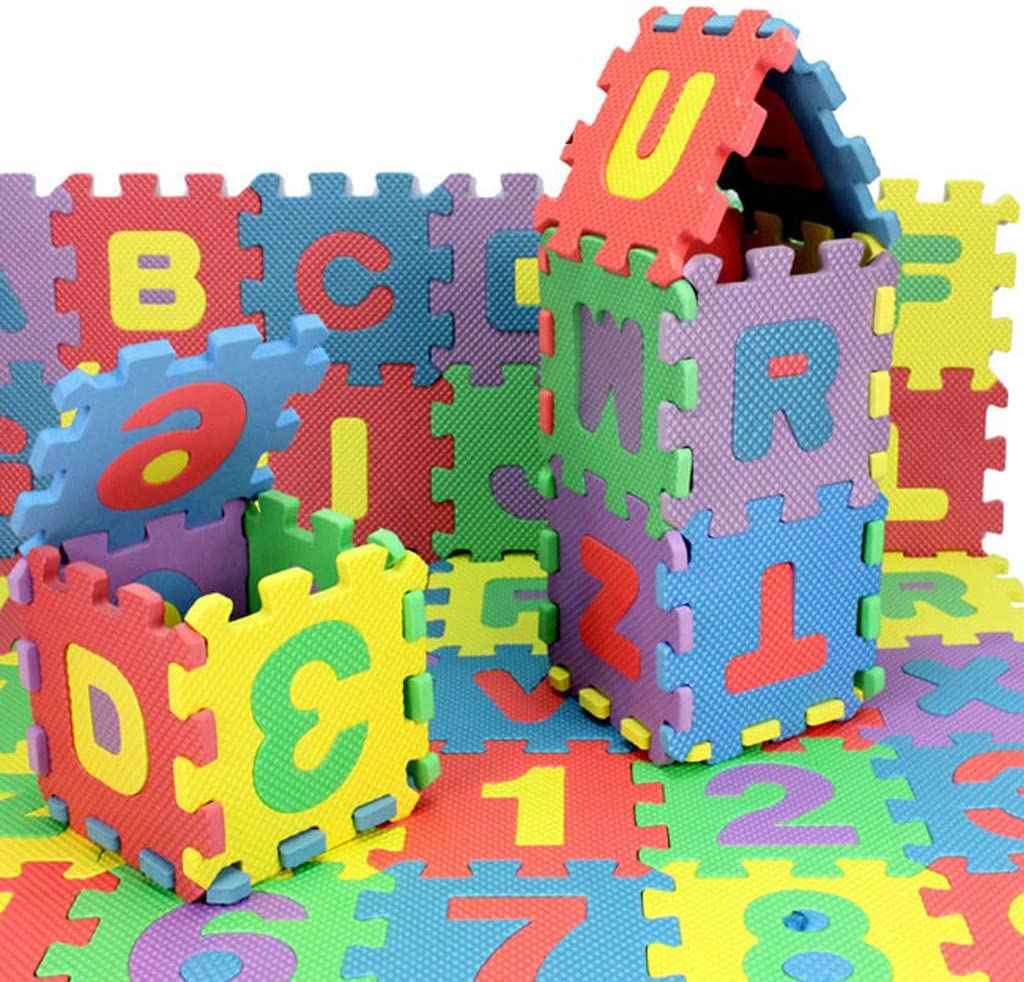 Multicolor Foam Lukey 36Pcs Baby Child Number Alphabet Puzzle Foam Maths Educational Toy Gift Floor and Mat Play Mat with Shapes /& Colors or Numbers Alphabets 36 Piece 1.9 1.9//pcs