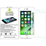 Cuddle 5D Full Body Premium Tempered Glass Screen Protector for iPhone 6/6s with Installation kit (White)