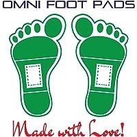 Omni - Almohadilla para pies – Paquete actualizado de 100 almohadillas para orejas de alivio de pies y 100 hojas adhesivas