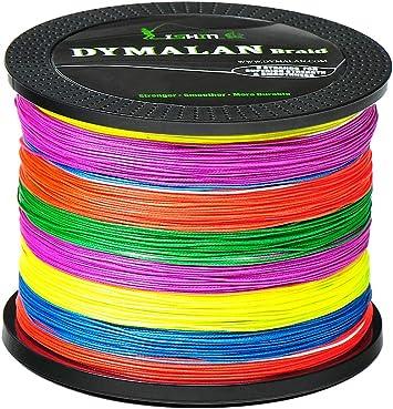 DYMALAN Sedal Trenzado de Pesca 8 filamentos 547 Yds/500M para una Mayor Distancia de Lanzamiento y Durabilidad para Agua Salada y Agua Dulce – Surfcasting, Pesca de Lubina.: Amazon.es: Deportes y aire