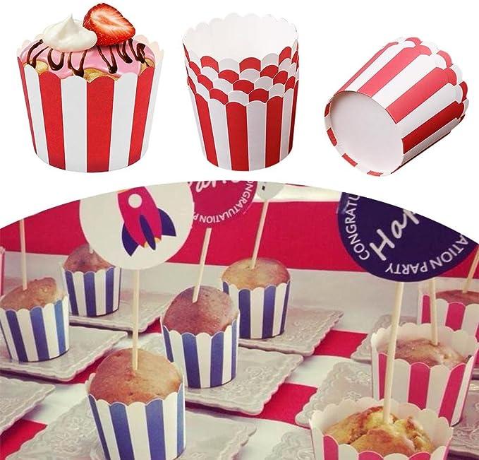 24 PCS Moules /à g/âteaux en papier muffin gobelets en papier,color/é Mini moules en papier,R/ésistant aux hautes temp/ératures Caissettes /à Cupcakes,non collant,il peut /être directement cuit au four