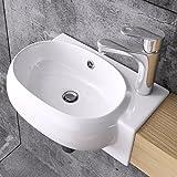 Lavabo vasque à monter au mur évier, Bruxelles 001L, blanc, traitement anticalcaire, céramique
