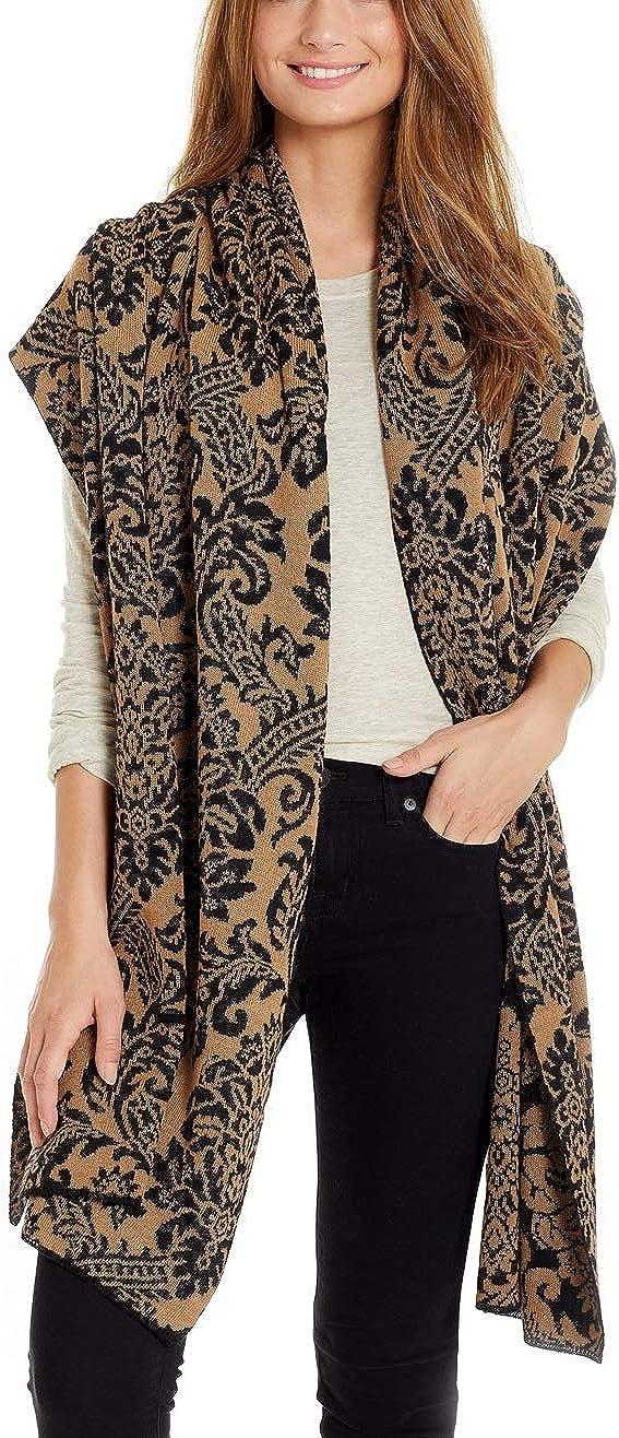 Invisible World Women's Shawl 100% Baby Alpaca Wool Wrap Cadena