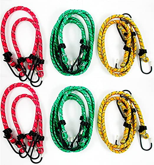 "Bungee Cord Tie Down Cord 18/"" Heavy Duty Elastic Stretch Cord"