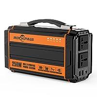 Deals on Rockpals WCE001 250-Watt Portable Rechargeable Solar Generator
