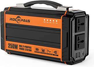 power generators. Rockpals 250-Watt Portable Generator Rechargeable Lithium Battery Pack Solar With 110V AC Outlet Power Generators I