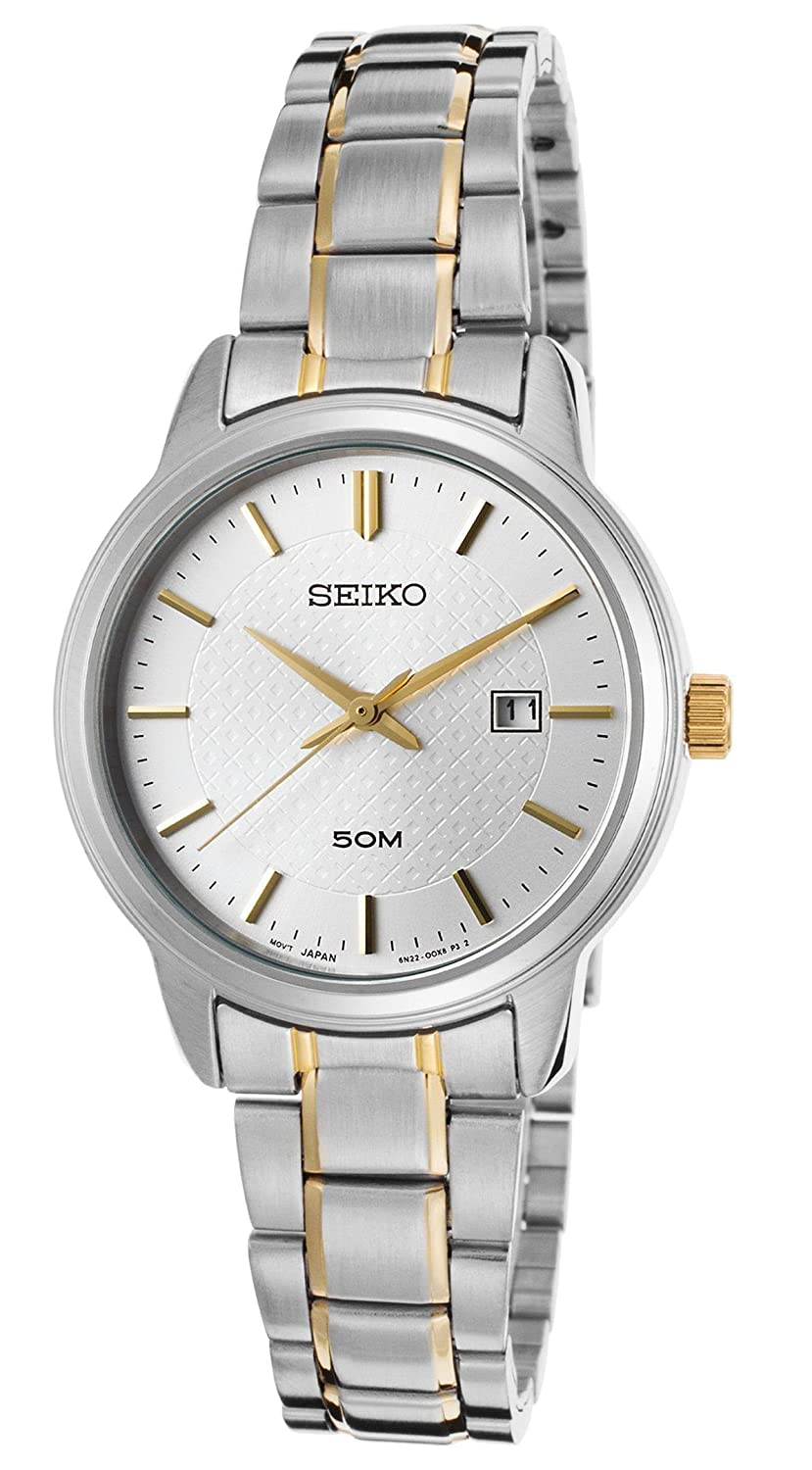 Amazon.com: Seiko Watches Womens Neo Classic Two-Tone Stainless Steel Watch (Silver/Gold): Seiko: Watches