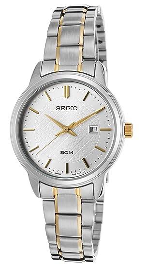 Seiko Reloj Analogico para Mujer de Cuarzo con Correa en Acero Inoxidable SUR745P1: Amazon.es: Relojes