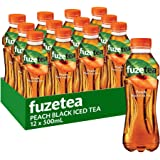 Fuze Peach Black Iced Tea Bottle 12 x 500 mL