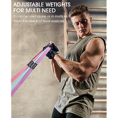 Resistance Bands Pull Up Assist Bands Set Home Gym Training Workout Men /& Women
