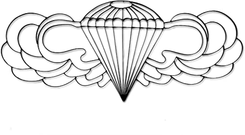 World Unique Imports AB-1460 Military Airborne Symbol Metal Wall D cor and Sculpture