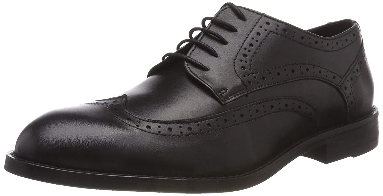 TALLA 43 EU. Bianco Broque Dress Derby, Zapatos de Cordones Brogue para Hombre