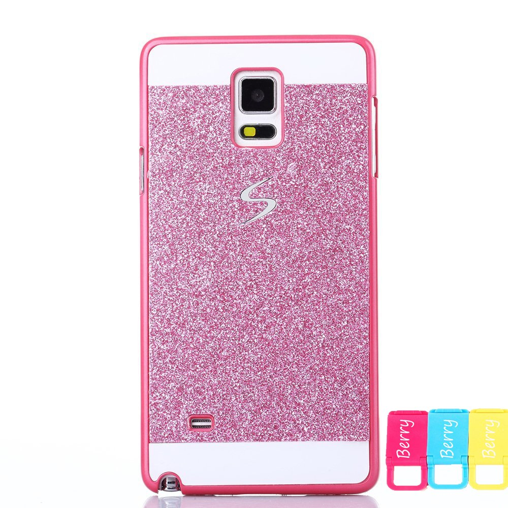 Samsung Galaxy S3 Case , Berry Accessory(TM) Beauty Hard PC Luxury Diamond Hybrid Glitter Bling Hard Shiny Sparkling with Crystal Rhinestone Clear Case Cover Skin for Samsung Galaxy S3 I9300+Berry logo stand holder(sliver)
