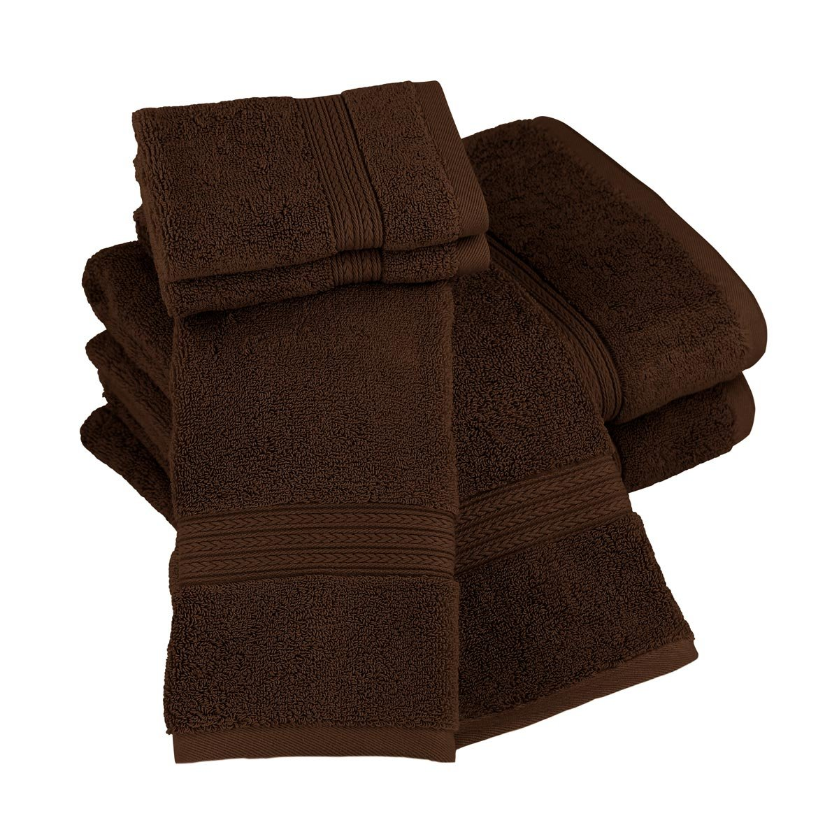 Luxor Linens New Arrival Bliss Collection Egyptian Cotton Classic 6-Piece Towel Set - Chocolate - with Gift Packaging by Luxor Linens (Image #3)