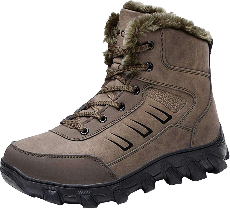 Barerun Soft Comfortable an-Slip Rubber Sole Snow Boot for Men