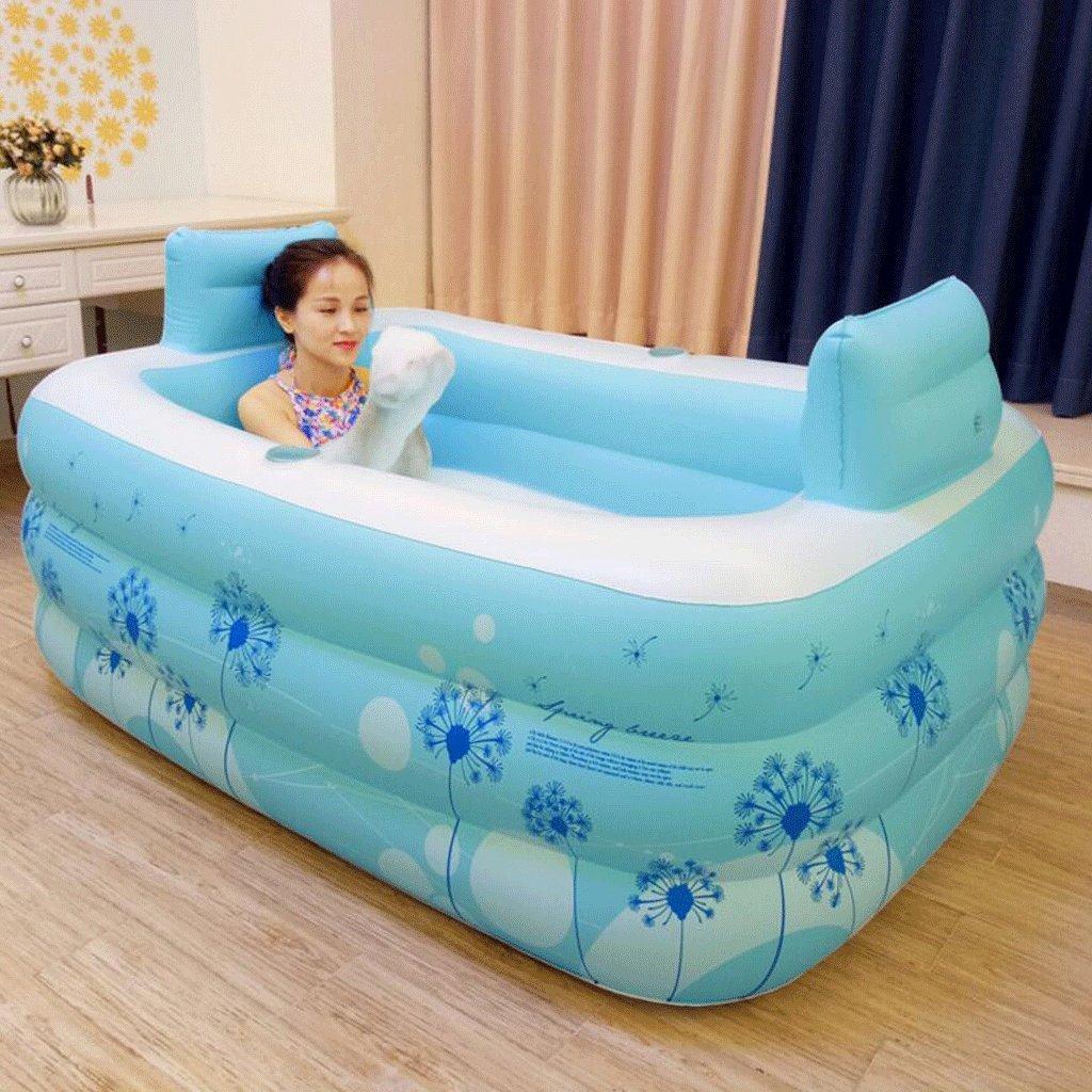 barilotto da bagno WTSW Vasca da bagno pieghevole Aumentare il spessore della vasca da bagno dWTSW Plastica della bolla del bagno adulto Vasca da bagno gonfiabile