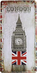 UOOPAI London Big Ben UK Retro Vintage Metal Tin Sign Art Plate Plaque Home Wall Decor