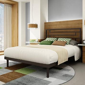 Brilliant Platform Beds Queen Bed Size Cobrizotextured Dark Brown In Decorating Ideas