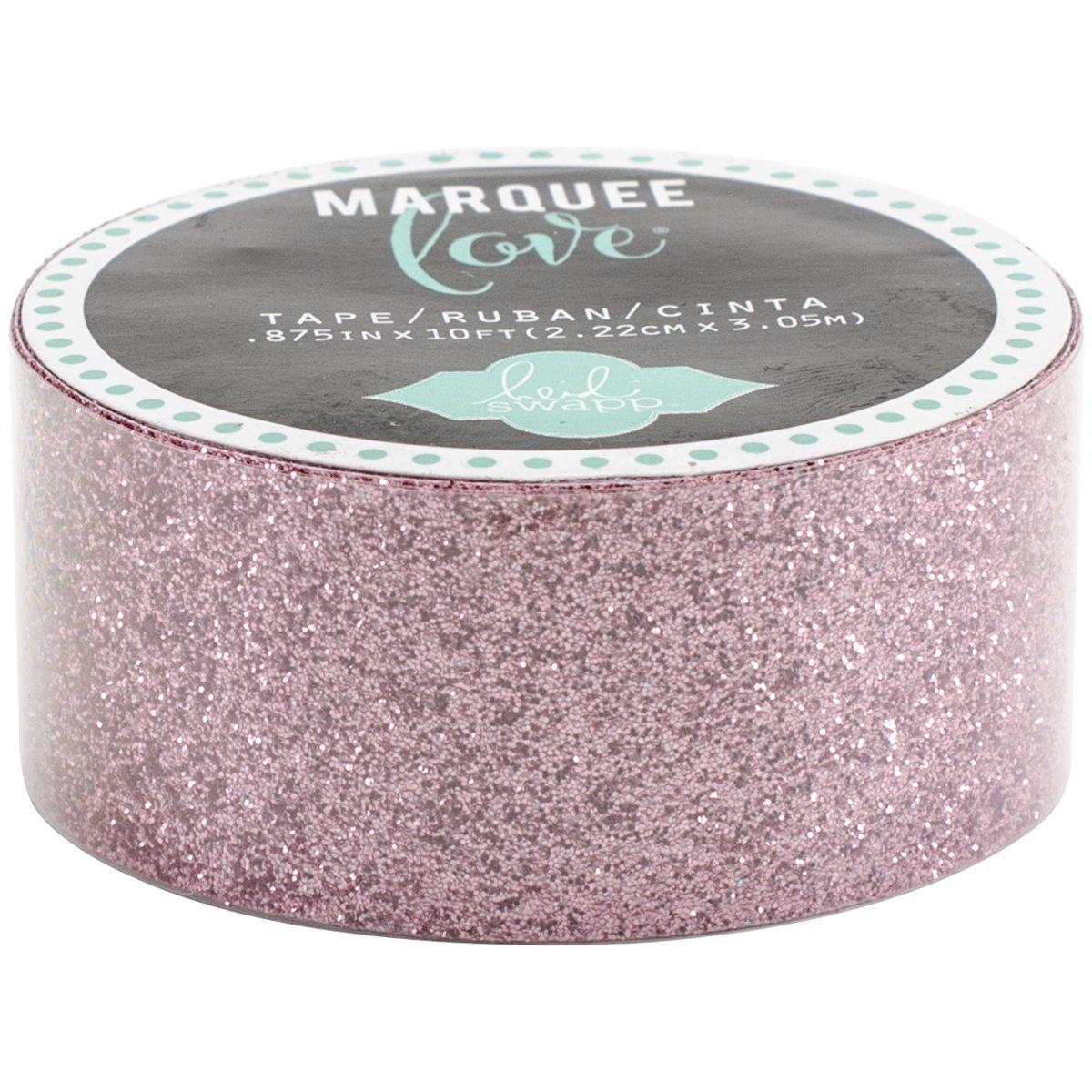 American Crafts 369796 Glitter Tape, 7/8''/10', Pale Pink
