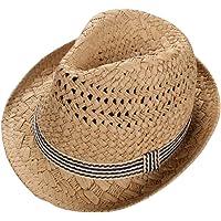 Leisial Sombrero de Paja para los Niños Hueco