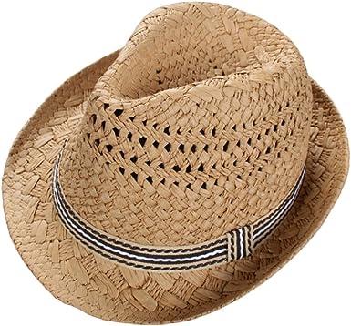 Leisial Sombrero de Paja para los Niños Hueco Sombrero de Jazz ...