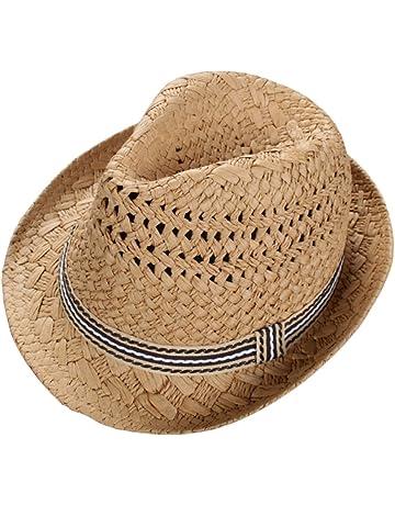 Leisial Sombrero de Paja para los Niños Hueco Sombrero de Jazz Gorro  Protector Solar Sombrero de 366f5c7dbf9