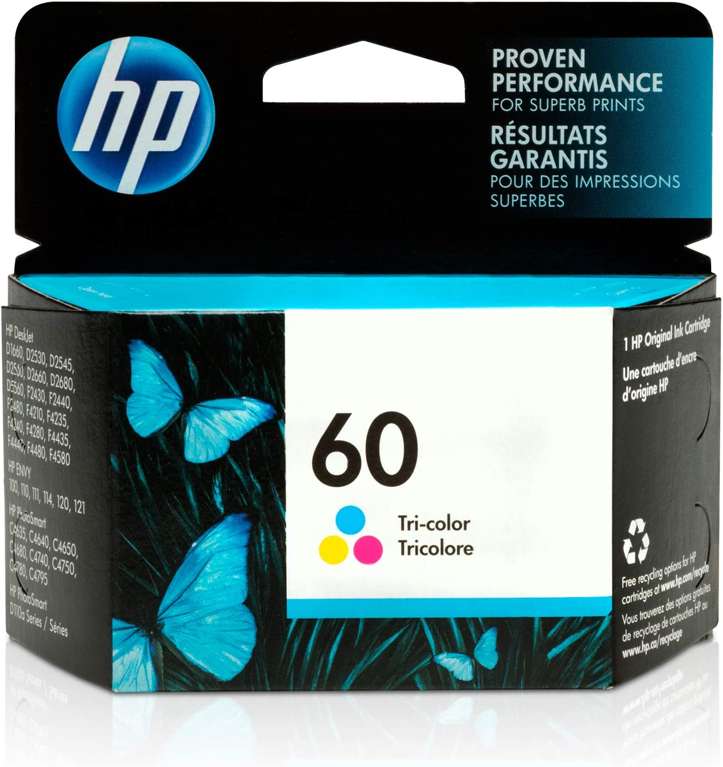 HP 60 | Ink Cartridge | Tri-color | CC643WN