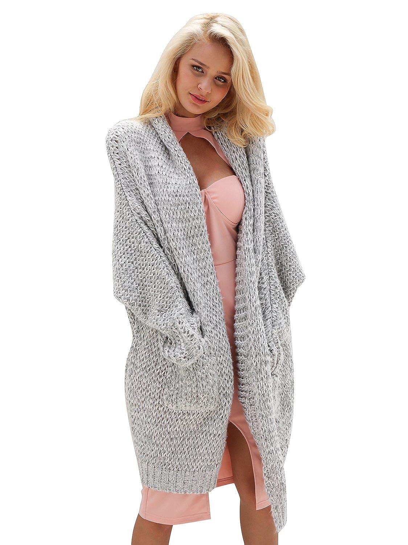 Tricot Longue Chunky Outwear Simplee Femme Hiver En Cardigan Apparel Laine Décontracté Câble Manteau Avec Poche Automne Large IYf76gvbym