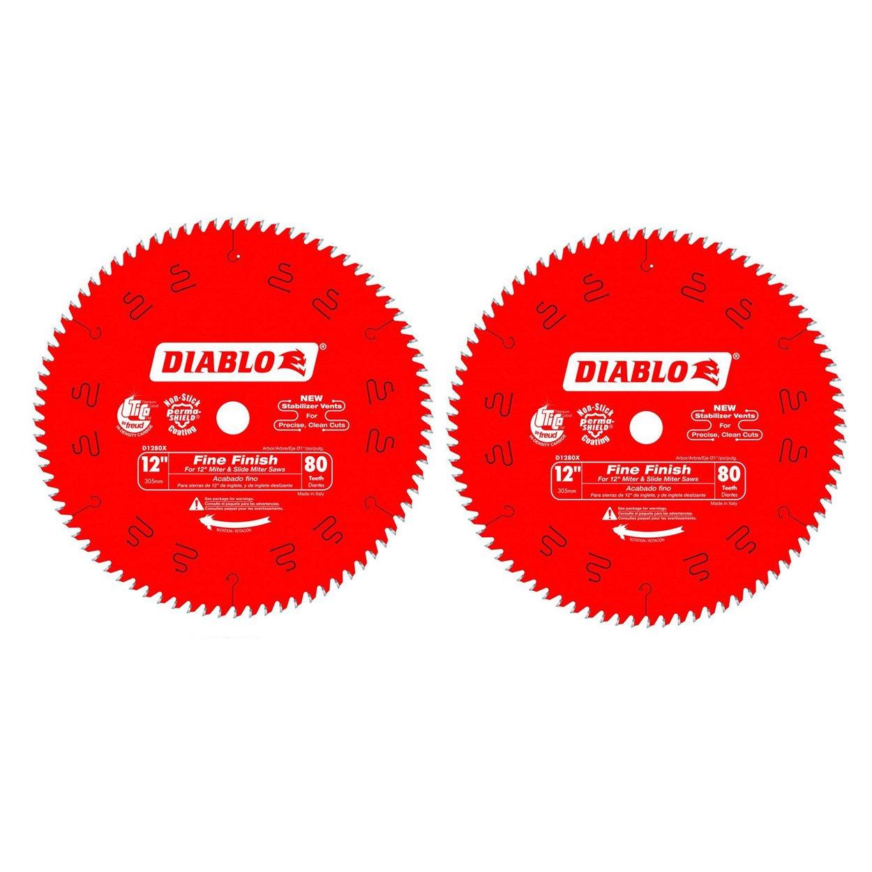 Hoja Sierra Diablo Por Freud D1280x Ø305mm - 80 Dientes - Eje 25mm Para Acabado [2un]