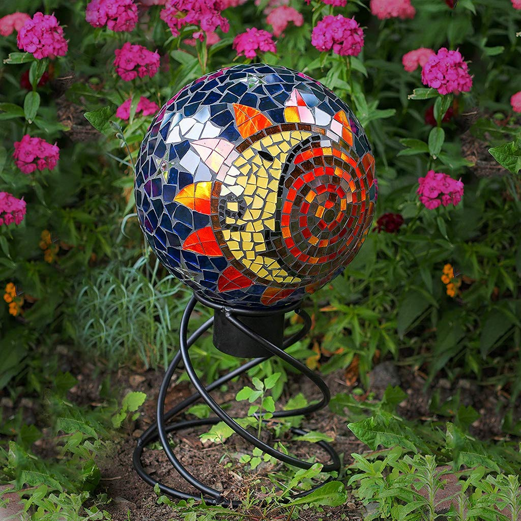 Gaze Ball Holder Small Helix Globe Stand Powder-Coated and Hand-Welded to Ensure Years of Use and Enjoyment Weatherproof; Can Be Used Indoors or Out Stand Is 8'' Tall Beautiful Spiral Design by AnySeasonStore (Image #4)