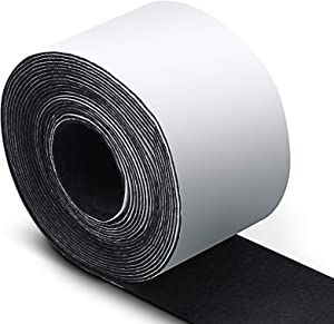 EMYVSVO Self Adhesive Felt Tape 1.96 Inch x 14.7 feet, Felt Strip Roll Polyester Felt Tape for Hard-Surface Objects Such as Furniture Tables Chairs, can Reduce Floor Noise (1 Pack, Black)