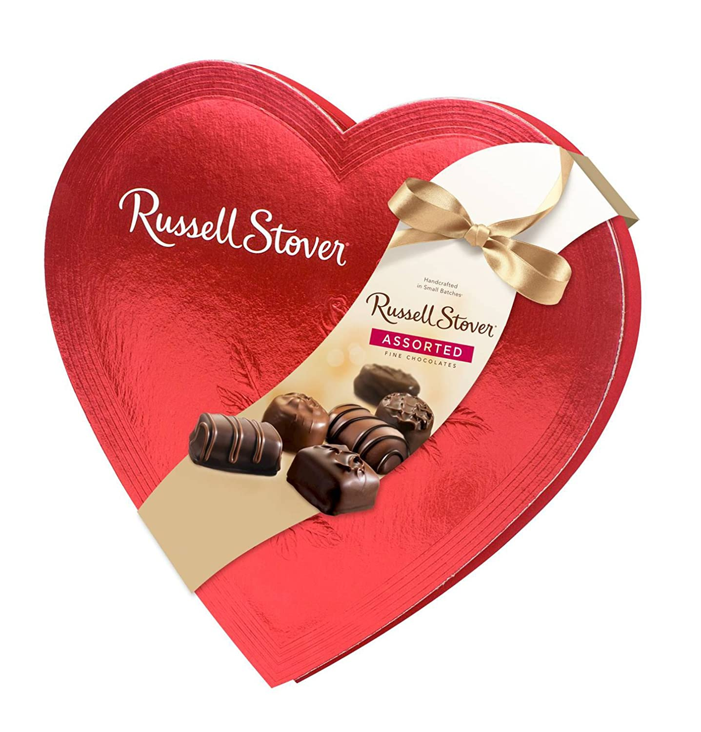 Amazon.com : Russell Stover Candies Red Foil Heart Chocolate ...