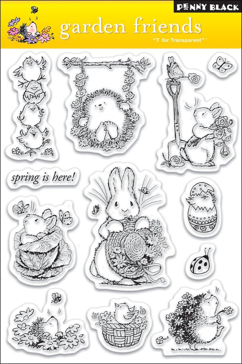 Penny Black PB30021 Clear Stamp Set, Garden Friends