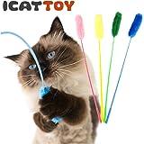 猫 おもちゃ iCatオリジナル ウキウキねこじゃらし グリーン 猫用おもちゃ ペットグッズ ねこ ネコ ねずみ ネズミ 猫じゃらし 釣り竿 ボール またたび プチプラおもちゃ 猫のおもちゃ icat i dog