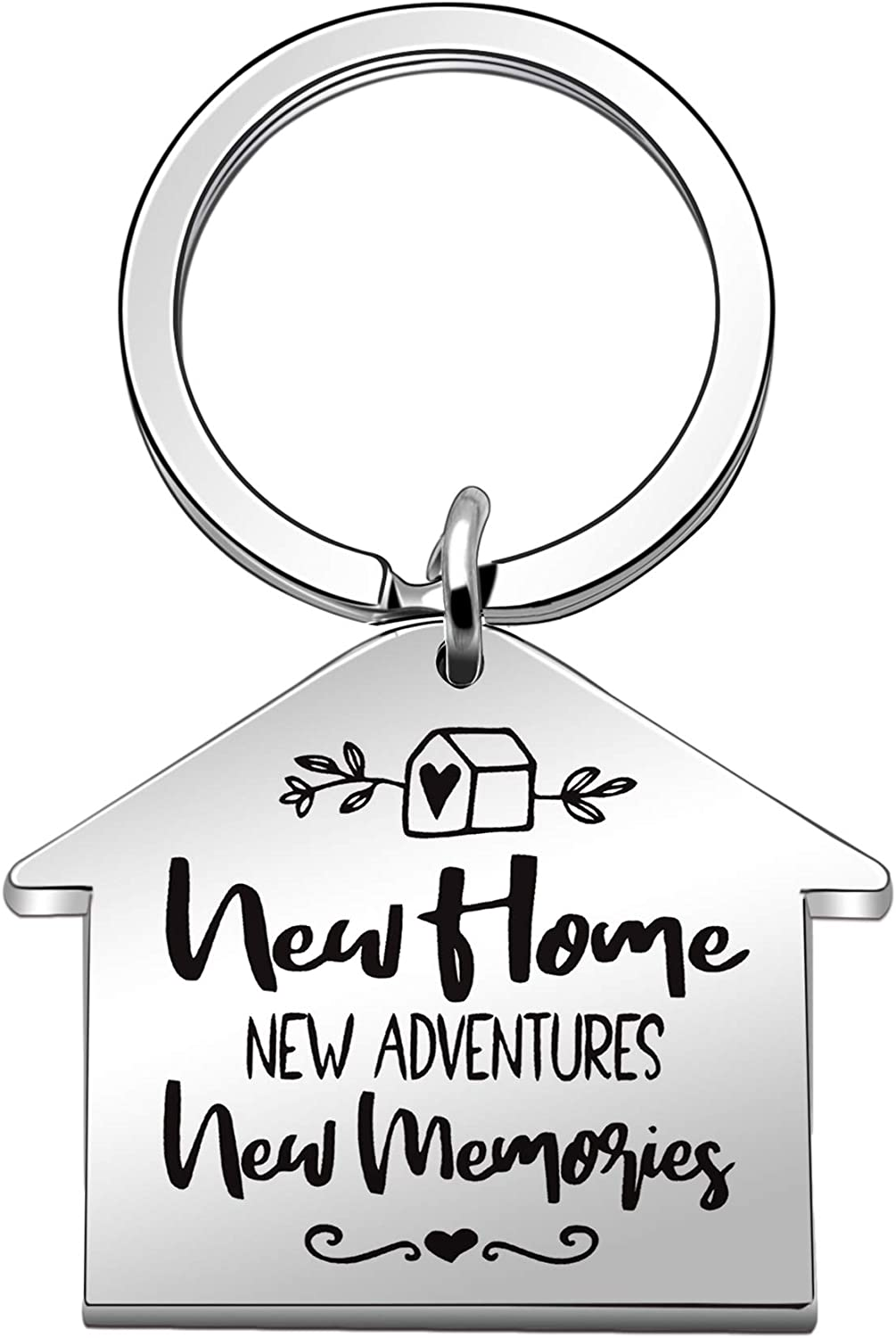 """Maxforever Housewarming New Home Gifts, """" New Home, New Adventures, New Memories """" Keyring Keychain, New Home Keychain for Family and Friends"""