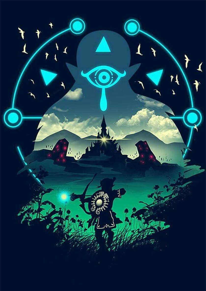 42x30 cm Poster Zelda Vintage Breath of the Wild Formato A3