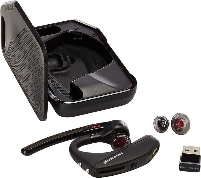 Amazon Com Plantronics Voyager 5200 Uc 206110 01 Advanced Nc Bluetooth Headsets System Renewed